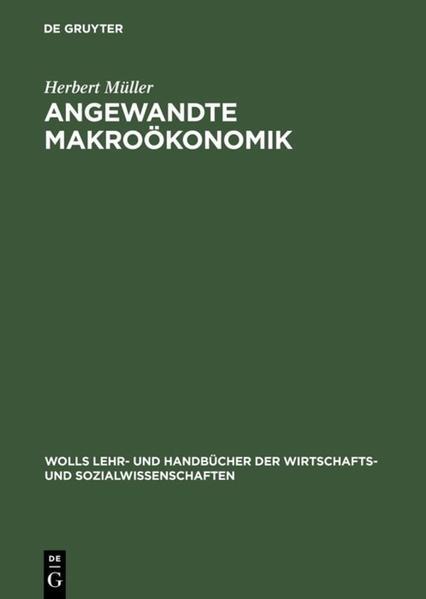Angewandte Makroökonomik - Coverbild