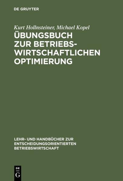 Übungsbuch zur Betriebswirtschaftlichen Optimierung - Coverbild
