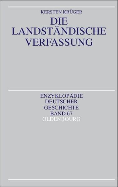 Die Landständische Verfassung - Coverbild
