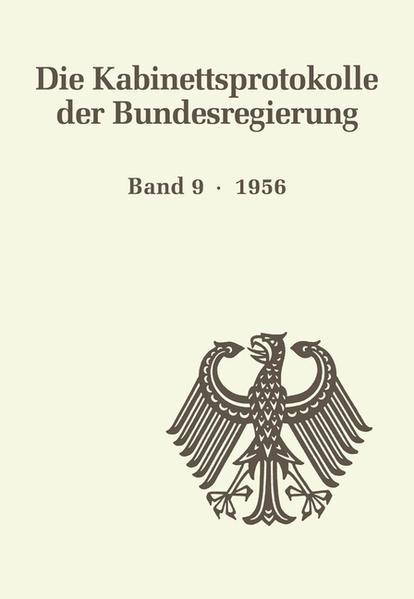 Die Kabinettsprotokolle der Bundesregierung / 1956 - Coverbild