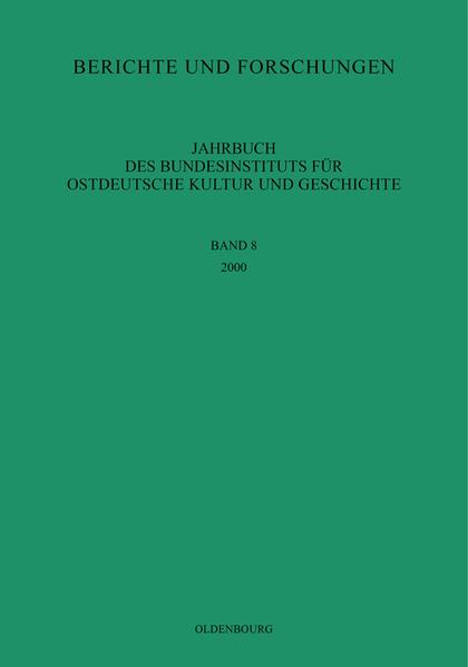 Jahrbuch des Bundesinstituts für Kultur und Geschichte der Deutschen im östlichen Europa / 2000 - Coverbild