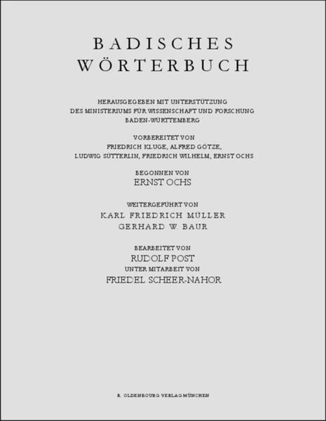 Badisches Wörterbuch / Schälets–Scheuer - Coverbild