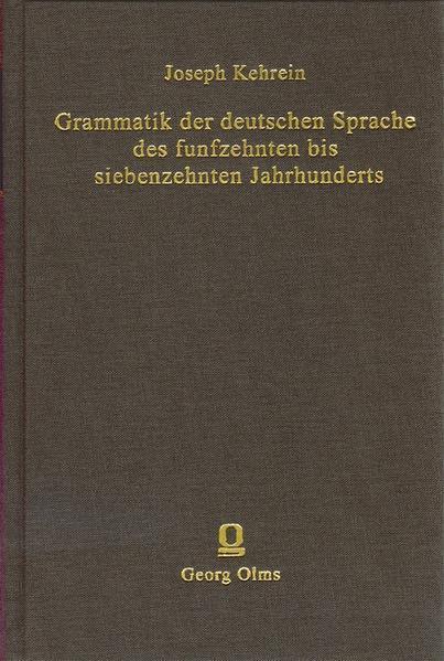 Grammatik der deutschen Sprache des 15. bis 17. Jahrhunderts - Coverbild