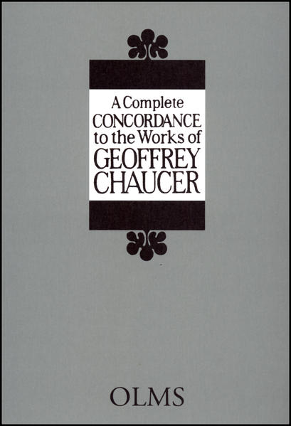A Complete Concordance to the Works of Geoffrey Chaucer - Coverbild