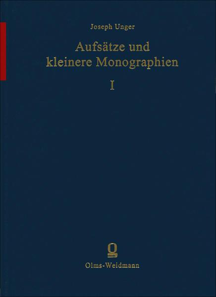 Aufsätze und kleinere Monographien - Coverbild