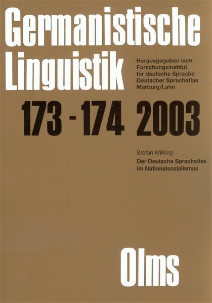 Germanistische Linguistik / Der Deutsche Sprachatlas im Nationalsozialismus - Coverbild