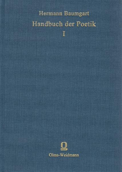 Handbuch der Poetik - Coverbild