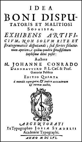 Idea boni Disputatoris et malitiosi Sophistae, exhibens artificium, non solum rite et strategematicè disputandi - Coverbild