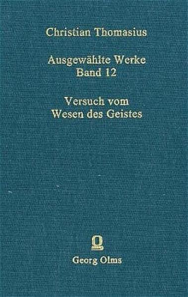 Ausgewählte Werke / Versuch vom Wesen des Geistes - Coverbild