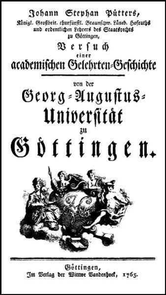 Versuch einer academischen Gelehrtengeschichte von der Georg-Augustus-Universität zu Göttingen - Coverbild