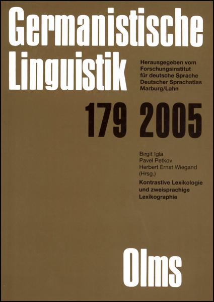 Germanistische Linguistik / Kontrastive Lexikologie und Zweisprachige Lexikographie - Coverbild