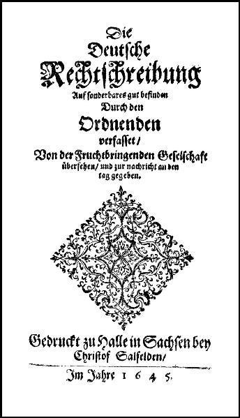 Die Deutsche Rechtschreibung (1645) - Coverbild
