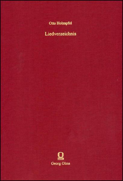 Liedverzeichnis - Coverbild