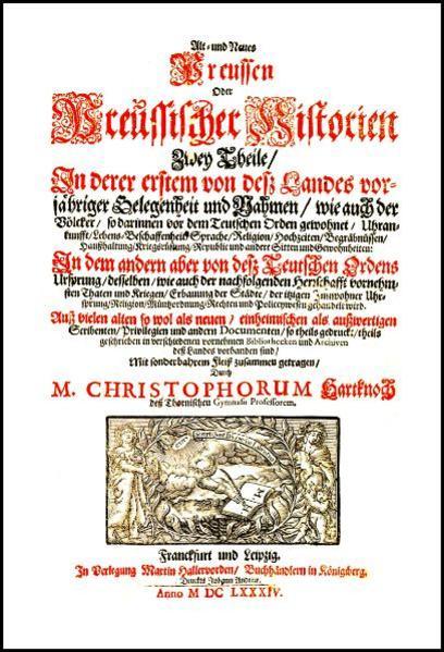 Alt- und Neues Preussen Oder Preussischer Historien Zwey Theile - Coverbild