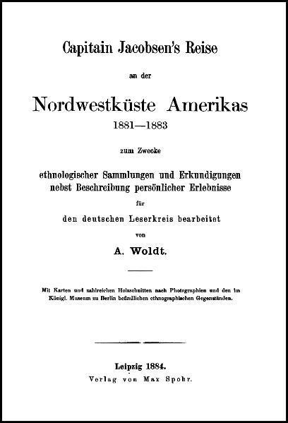 Capitain Jacobsen's Reise an der Nordwestküste Amerikas 1881-1883 - Coverbild
