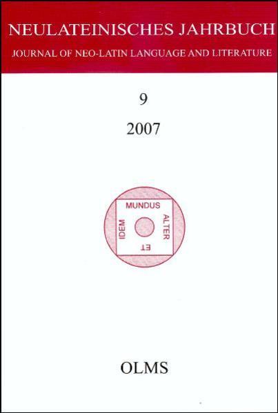 Neulateinisches Jahrbuch - Coverbild