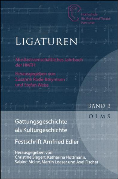 Gattungsgeschichte als Kulturgeschichte. Festschrift Arnfried Edler - Coverbild