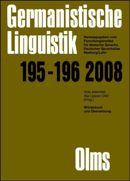 Germanistische Linguistik / Wörterbuch und Übersetzung - Coverbild