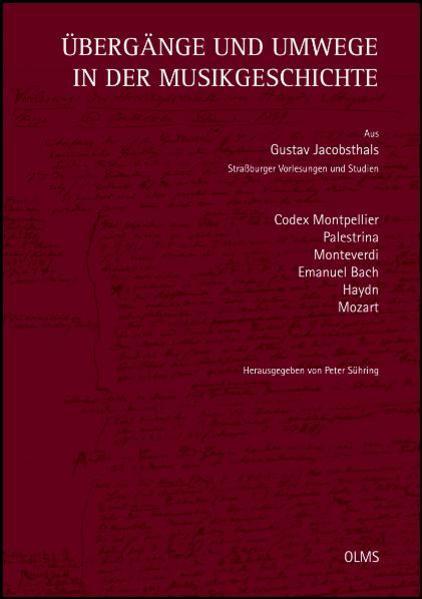 Übergänge und Umwege in der Musikgeschichte - Coverbild
