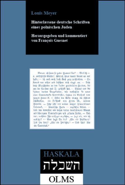 Hinterlassene deutsche Schriften eines polnischen Juden - Coverbild