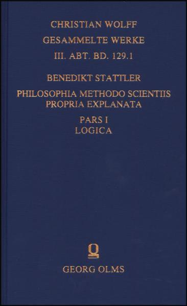 Philosophia methodo scientiis propria explanata - Coverbild