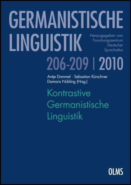 Kontrastive Germanistische Linguistik - Coverbild