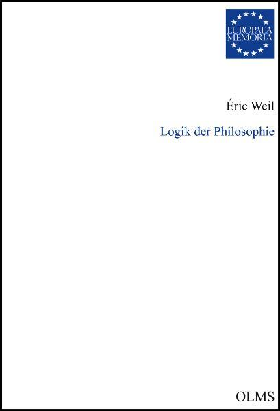 Logik der Philosophie - Coverbild