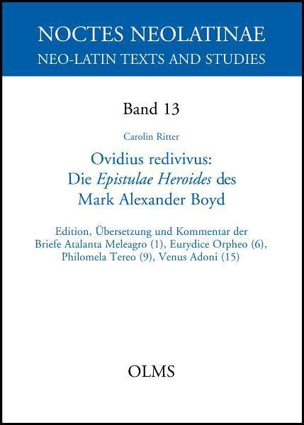 Ovidius redivivus. Die Epistulae Heroides des Mark Alexander Boyd - Coverbild