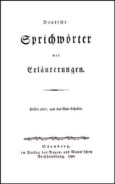 Deutsche Sprichwörter mit Erläuterungen - Coverbild