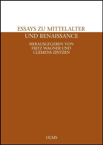 Essays zu Mittelalter und Renaissance. - Coverbild
