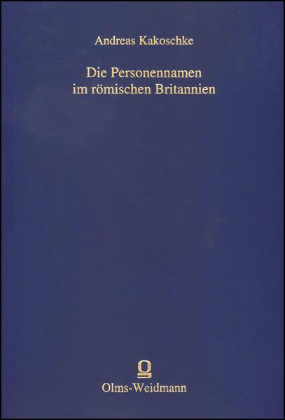 Die Personennamen im römischen Britannien - Coverbild