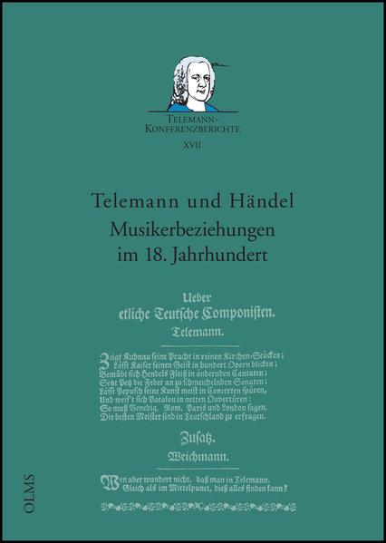 Telemann und Händel - Musikerbeziehungen im 18. Jahrhundert - Coverbild