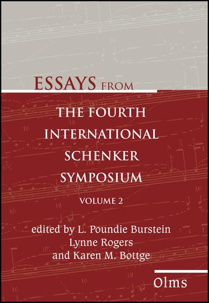 Essays from the Fourth International Schenker Symposium - Coverbild