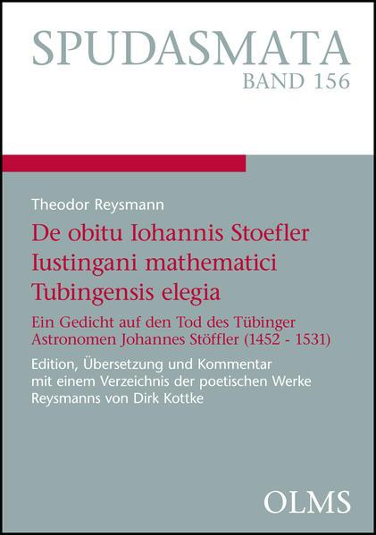 Theodor Reysmann, De obitu Iohannis Stoefler Iustingani mathematici Tubingensis elegia - Coverbild