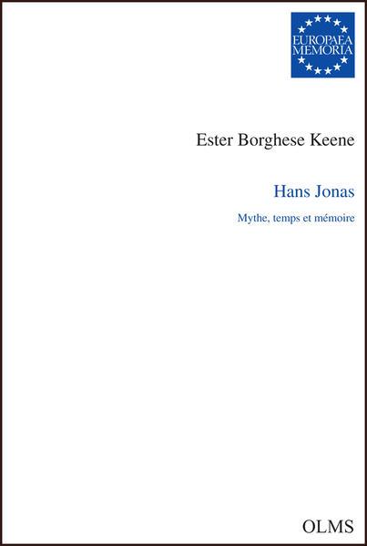 Hans Jonas. Mythe, temps et mémoire - Coverbild