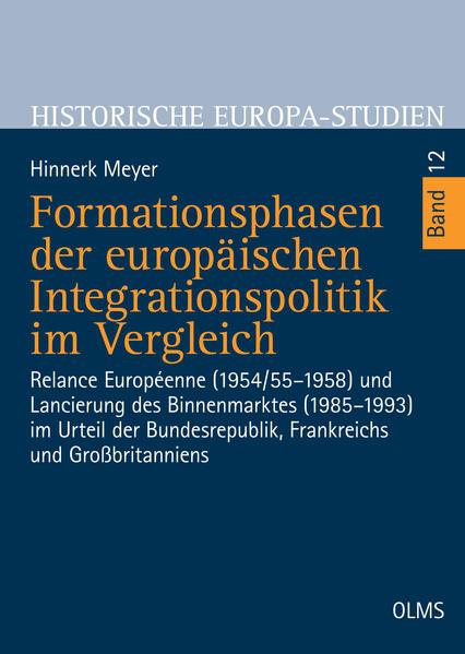 Formationsphasen der europäischen Integrationspolitik im Vergleich - Coverbild