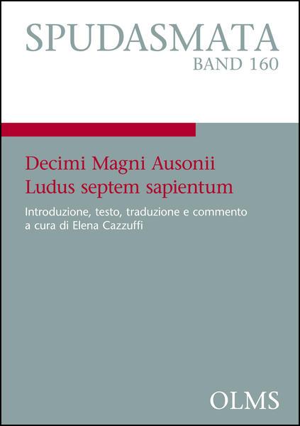 Decimi Magni Ausonii Ludus septem sapientum - Coverbild