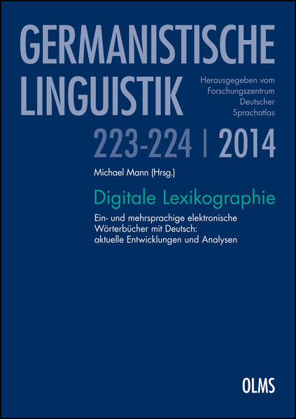 Digitale Lexikographie - Coverbild