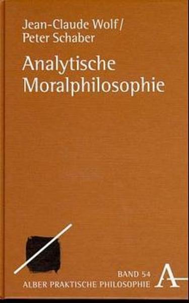Analytische Moralphilosophie - Coverbild
