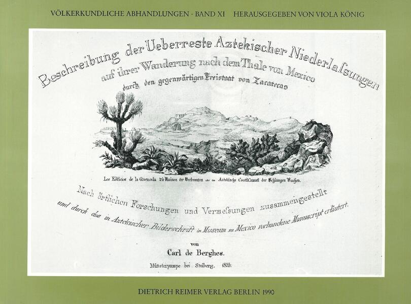 Beschreibung der Überreste aztekischer Niederlassungen - Coverbild