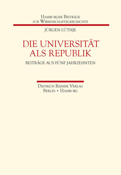 Die Universität als Republik - Coverbild