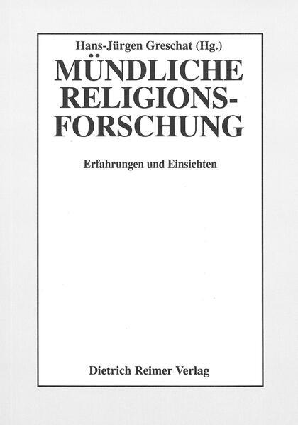 Mündliche Religionsforschung - Coverbild