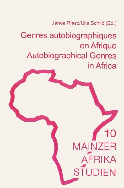 Genres autobiographique en Afrique /Autobiographical Genres in Africa - Coverbild