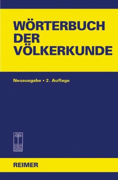 Wörterbuch der Völkerkunde - Coverbild