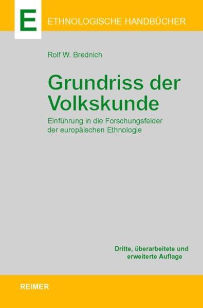 Grundriss der Volkskunde - Coverbild