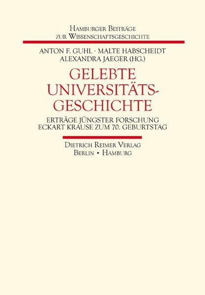 Gelebte Universitätsgeschichte - Coverbild