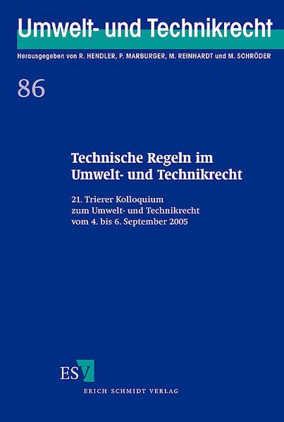 Technische Regeln im Umwelt- und Technikrecht - Coverbild