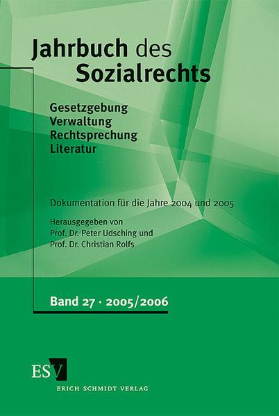 Jahrbuch des Sozialrechts / Jahrbuch des Sozialrechts Dokumentation für die Jahre 2004/2005 - Coverbild