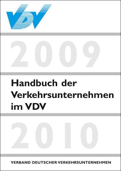 Handbuch der Verkehrsunternehmen im VDV 2009/2010 - Coverbild