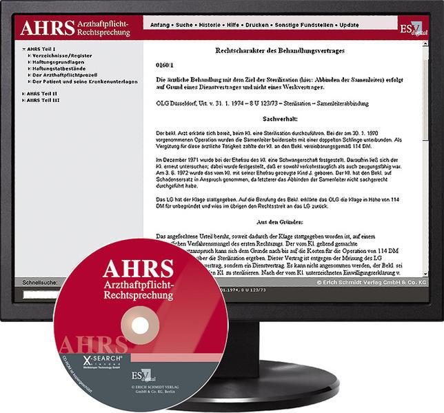 Arzthaftpflicht-Rechtsprechung digital / Arzthaftpflicht-Rechtsprechung I - bei Kombibezug Print und CD-ROM - Coverbild